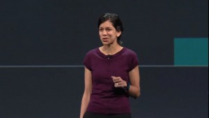 Avni Shah, Google's director of product management, speaks to the crowd at the 2014 I/O developers conference