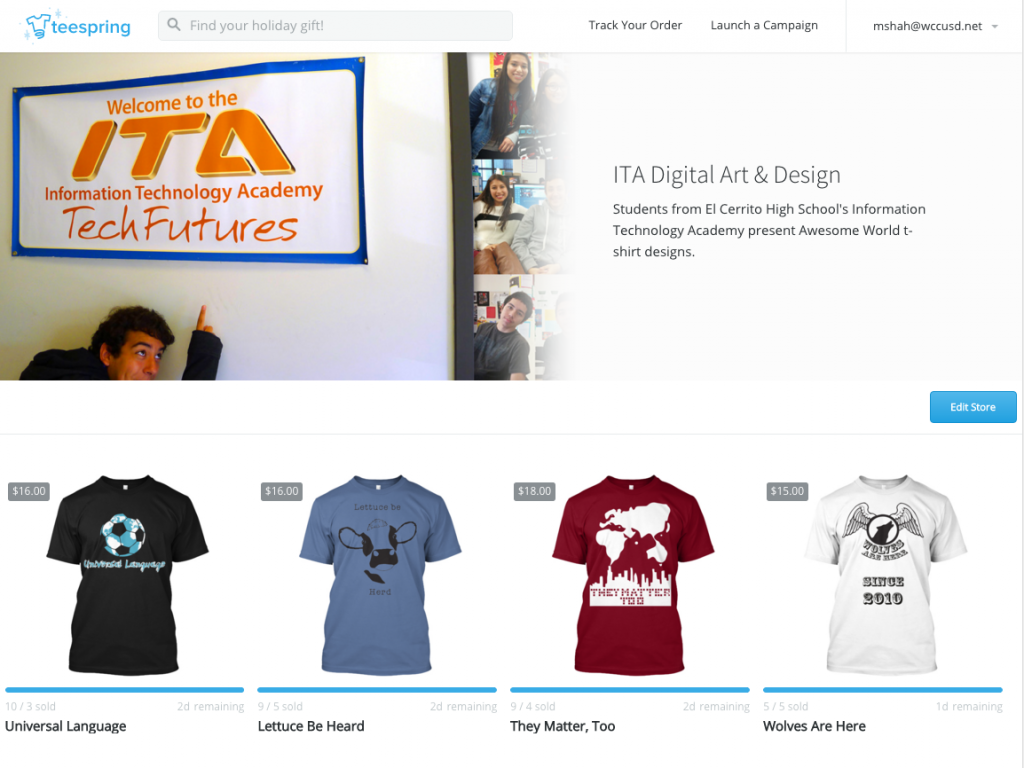 ITA Awesome World T-shirt Campaigns
