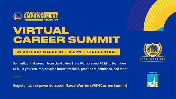 Flyer for Local Warriors' Women's Empowerment Career Summit